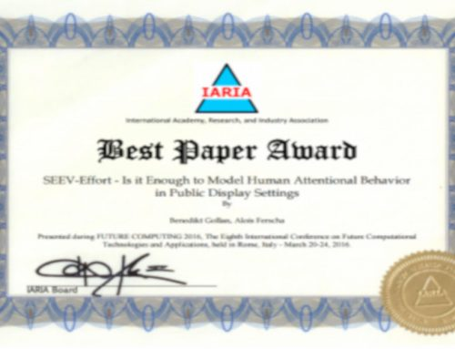 """Best Paper Award"" in Rom"