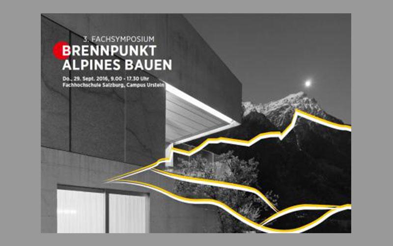 Plakat zum Fachsymposium in Salzburg